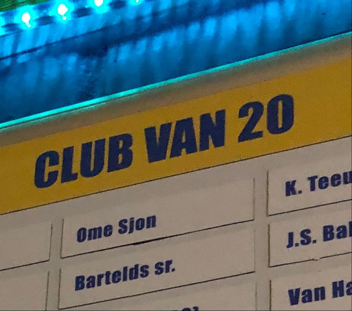 Club van 20 geeft s.v. Blauw-Geel nieuwe glans