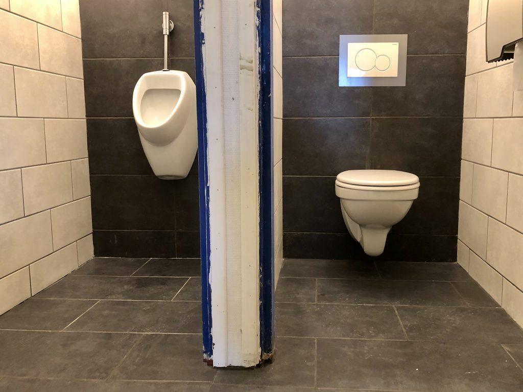 Toiletten in de nieuwe stijl